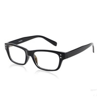 Vintage Plain Glasses Plain Mirror Fashion Rivets Design Glasses Frame With Box  Black Tiger