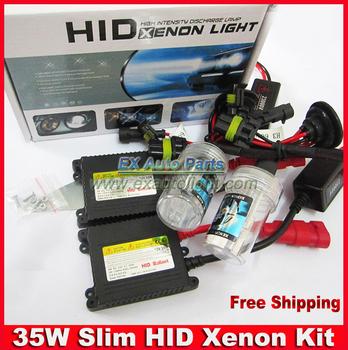 Free Shipping 9005 9006 HB1 HB3 HB4 HB5 35W Car Slim HID Xenon Conversion Headlight Kit 4300K 5000K 8000K 10000K 12000K DC 12V