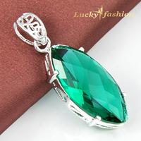 2014 New Design 2 colors Fashion Streamline Style Fine Jewelry Pear Shape Crystal Pendant
