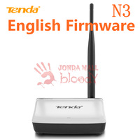 English Firmware Tenda Router N3 Wireless N150 150mbps Home Router Wireless broadband Router 2 Port WIFI Repeater.Presented plug