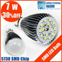 Free Shipping !HOT Sale,5730 led,CREE,AC85-265V,E27/E14/B22,5730 SMD,CE&ROHS,7w led light bulb,brightness indoor led lighting