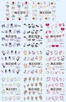 adhesive nail 100PCS for one lot. 3D Design Nail Art Sticker nail supply,3D Design Nail Art Seal ,Various of design,