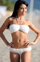 2014 women swimsuit summer cool sexy White Ruffled Bikini Set  Cheap price Drop Shipping