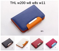 5.0 inch universal wallet pu Flip Leather case Cover For THL w200 w8 w8s w11  and other 5.0 inch cell phone