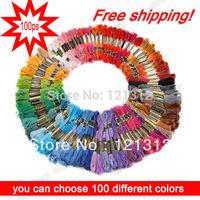 Free shipping! 100 pieces  DMC  cross  threads  / cross stitch / cross stitch embroidery thread,,