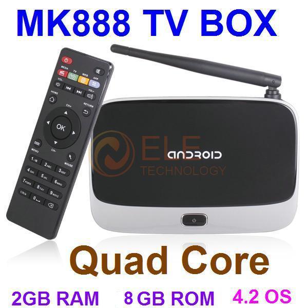 TV Box (MK888) B with Bluetooth Android 4.2 Quad Core RK3188T 2GB RAM 8GB ROM (CS918) AV HDMI Remote Control Mini PC TV Stick(China (Mainland))