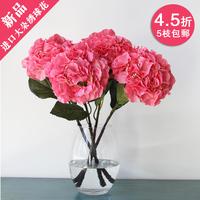 Free shipping High quality hydrangea fashion hydrangea quality silk flower artificial flower 20cm diameter