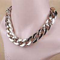 Women Lady Short Design Joker Coarse Chain Necklace