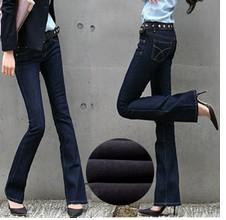 [해외]2015 flared Jeans Womens jeans thick velvet line trou..