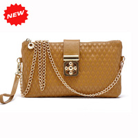 Fashion New Arrival Women Plaid Clutch Wristlet Cosmetic Bags,First Layer Genuine Leather Shoulder Messenger Handbag,ANS-SL-70