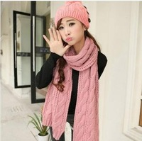 Fashion preppy style coarse knitting large vintage twisted yarn thick scarf cape