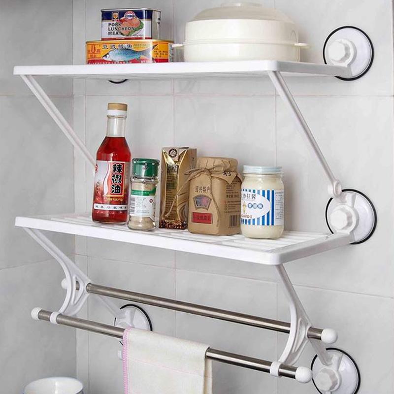 Estantes Metalicos Para Baño: de succión taza de cuarto de baño cocina estante de almacenamiento