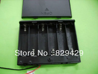 9v battery holder  6 X AA Battery Holder 9V with wires  lid and switch  With screw  10pcs/lot Free shipping