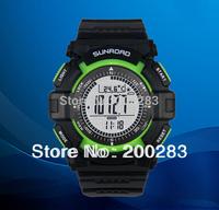Free shipping Sunroad FR822A 3ATM Digital EL Backlit w/altimeter+barometer+compass+world time+stopwatch sport watch - Green