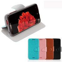 Ultrathin Flip leather case for Lenovo S820 With Stand Function,Built-in 0.4mm manganese steel plate leather cover