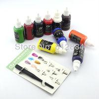 New 2013 supernova Sale Nail Art Decorations Paints 3D Nail Painting Kits 10 Colors 30ml Paint Pigment + Fountain Pen P009