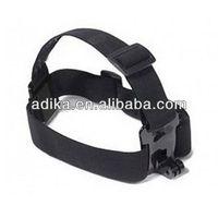 10pcs/lot Gopro hot accessories Elastic Adjustable Head Strap mount for SJ4000 Adjustable Head belt  GP24