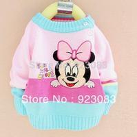 2014 autumn baby clothing reborn babies roupas bebe 3pcs/lot baby girls cartoon Minnie long sleeve baby sweater free shipping