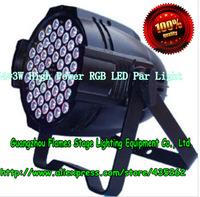 Hot Sell 54*3W High Power RGB LED Par Light With DMX512 Master-Slave Stand,DJ Equipments,free shipping