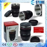 Newest 2nd Generation Gift  24-105mm STAINLESS STEEL INNER Camera Lens Coffee Cup for Canon Lens, Free Shipping