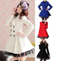 OISK Brand Women's Wool Trench Coats Dress Jacket Parka Slim Fit Peacoat  4 Colors S/M/L/XL je138