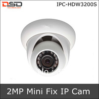 HDW3200S 2013  Alarm Systems Security Home Dahua Mini IR IP Camera 1080P Support Alarm & Audio & SD Card, IR Distance is 20m.