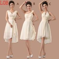 Bridesmaid formal dress short design 2013 champagne color short design chiffon formal dress the wedding dress the bride dress