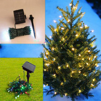 Solar Power 60 LED colorful Garden String Light chrismas decoration  free shipping