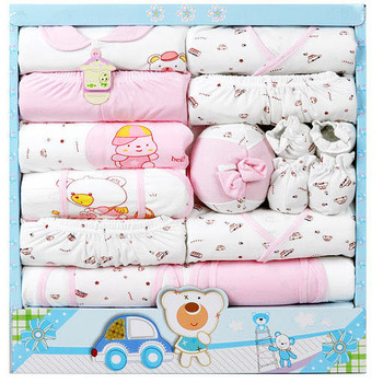 Free Shipping 100% cotton 18pcs newborn gift set Infants clothing sets baby boys girls suits Toddlers Clothes + Accessories