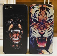 Free Shipping New Arrival Dog Tiger Roar Cross Quote Hard Case Back Cover For  iPhone 4 4s 5 5G with Retailed Package