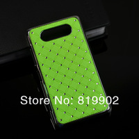 1pcs Hot Luxury Bling Diamond rhinestone Hard Back Case Protective Cover for Nokia Lumia 820