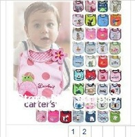 10pcs/lot free shipping,KA baby's TE cotton animal bibs ,baby's cotton Burp Cloths