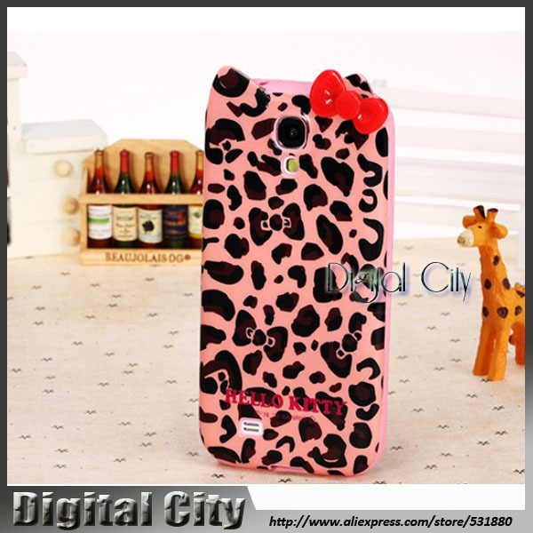Free Shipping! New Arrival Hello kitty Latest Design TPU Mobile Phone Bag For Samsung galaxy s4 Cases/ i9500 Cell Phone Cover(China (Mainland))