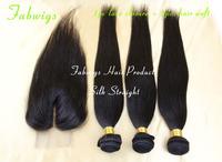 Peruvian Virgin Hair 4pcs lot Straight Hair Bundles Middle Part Lace Closure With 3pcs Unprocessed Human Hair Extension Straight