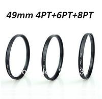 Free shipping Optical Glass 49mm Star 4PT 6PT 8PT Lens Filter  Kit