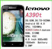 "Top selling  A390T 4.0"" dual sim card Android 4.0 Dual Core 1GHz unlocked smart phone +free shipping!"