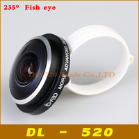 Fisheye lens 235 Degree Clip Super Fish eye lens for iPhone 4s 5s 5c 5 Samsung Galaxy S3 4 5 Note 2 3 Mobile phone lens,20 pcs
