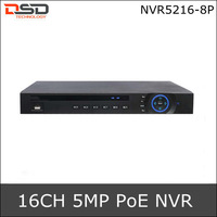 Hot DHL Free Shipping Hot Dahua ONVIF Version 2.0 16CH Full 720P Network CCTV DVR Recorder NVR5216-P,Support 8 PoE ports & 2HDDs