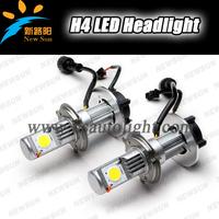 Free Shipping Led auto lamp for car h4 led headlight bulbs,5000K white 2PCS*Cree-1512 chips each led motorcycle headlight