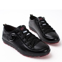 Hot sale 2013 New Fashion British Men's Casual Leather Shoes Low Heel Round Shoes