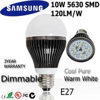 10pc/lot 10w led bulb bubble globe lamp light E27 85-265V 110v 220v 240v dimmable + indimmable 3year warranty : A68-10-2