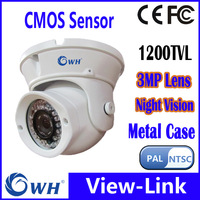 Surveillance 1/3 HD CMOS 1200TVL 36leds IR 25M indoor Security CCTV Dome Camera free shipping