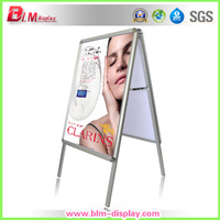 free shipping for double side aluminum A1 outdoor  post stand  Graphci included Double side Sidewalk A frame pavement sign board