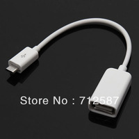 Micro USB Host OTG Adapter Cable for Samsung Galaxy S3 i9300 S4 SIV i9500 free shipping 3214