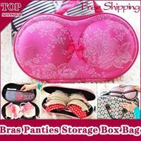 Portable Travel Girl Lady Underwear Bras Panties Socks Storage Box Bag Brassiere Bust Bodice Breast Form Shield Knickers Uplift