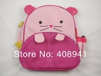 Free Shipping+Cute Zoo Cartoon School Bags Mini Oxford Canvas Backpack Gift for Children Kids Dora Schoolbag,50pcs/lot