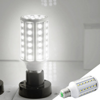 New 12pcs/lot High Energy E27 15W 60 LED 5630 Cold White Energy Saving Corn Light Lamp Bulb 14632