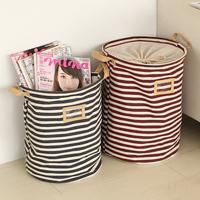 Zakka fluid storage bucket sundries storage basket dirty clothes basket laundry bucket storage basket 34012