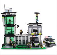Enlighten Building Blocks Hot Toy Police Series Riot Police Office Car Educational Construction Bricks Toys for Boy Gift