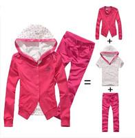 Hot!! 2014 new fall three-piece sports suit casual sportswear sweater